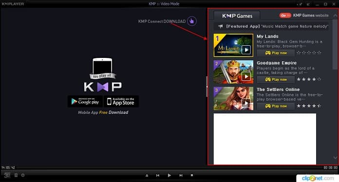 Удаление рекламы kmplayer