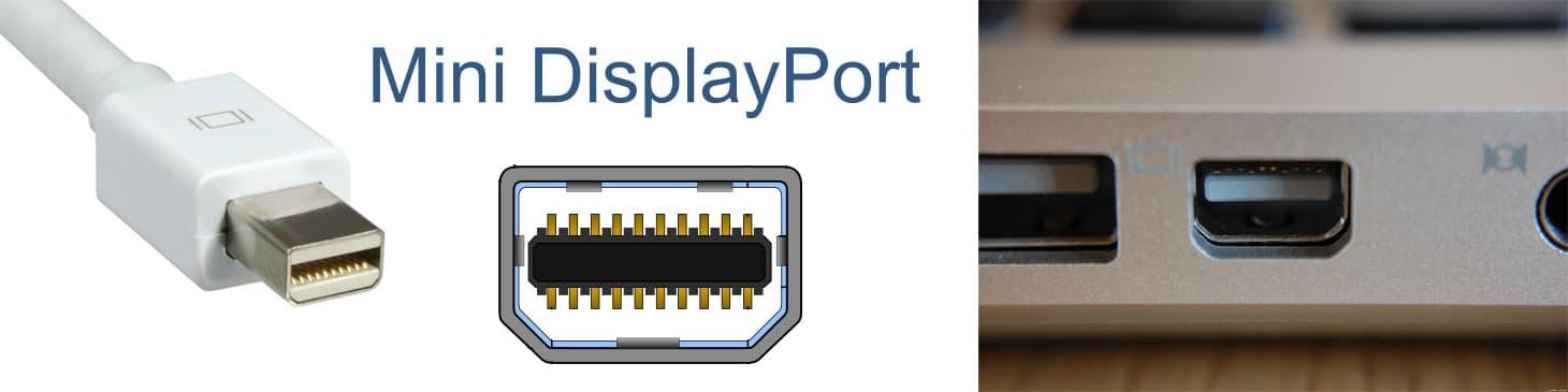 Миниатюрный, удобный и максимально распространённый Mini DisplayPort уютно приютился на панели ноутбука