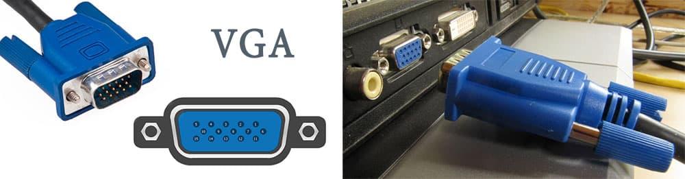 Голубенький штекер старого-доброго VGA всегда вызывает ностальгию.