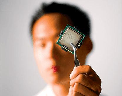 Размер современного процессора