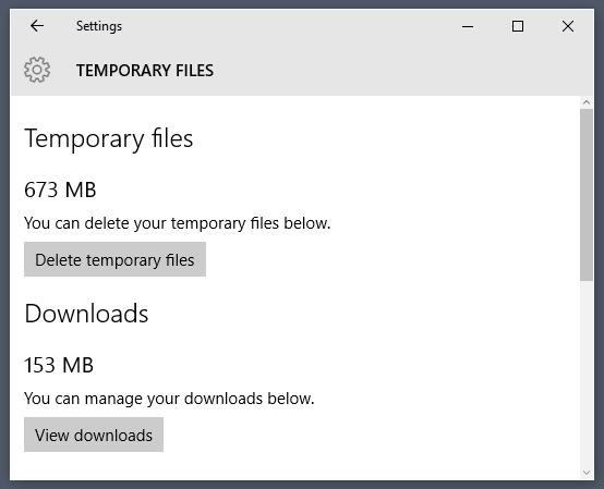 Временные файлы в Wondows 10. Их можно удалить прямо из системы без использования сторонних программ.